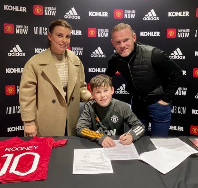 Footballer Wayne Rooney's eldest son Kai, 11, joins Manchester United